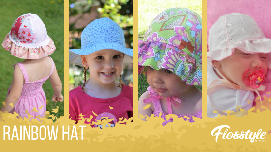 Flosstyle Patterns Rainbow Hat is perfect for kids of all ages and all seasons with the included beanie option.