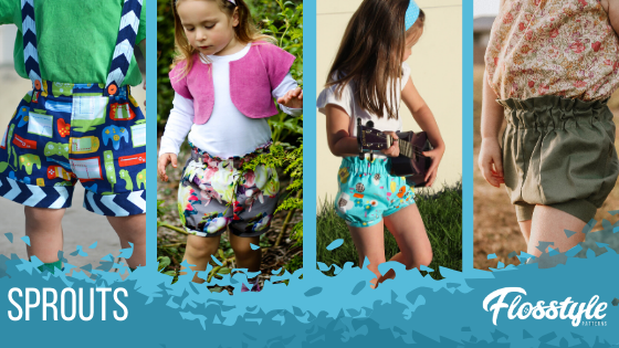 Flosstyle Patterns Sprouts, this pattern has so many options you won't need any other shorts/pants pattern!