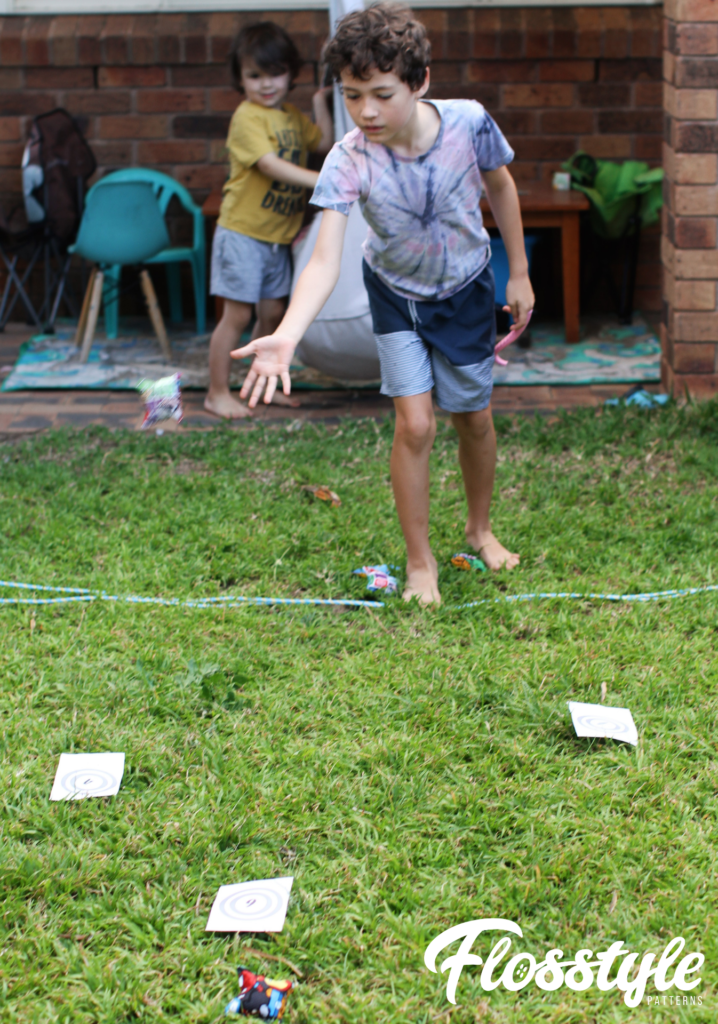 Free printable Bean Bag Games: Try and hit the targets to get the most points