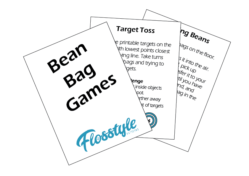Bean Bag Games Free Printable from flosstyle.com