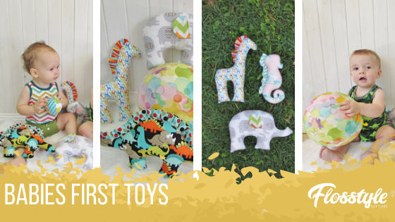Flosstyle Patterns Babys First Toys is great for babies who are just finding their hands and looking for something to play with. For older babies try the balloon ball cover.